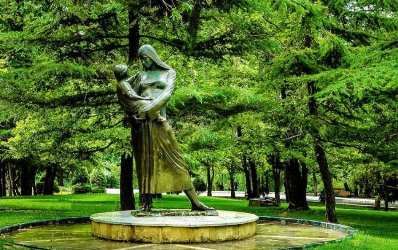 Mother Statue at Mellat Park