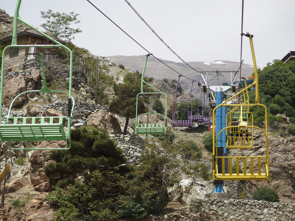Darband - Telesiege - Chairlift - Tehran