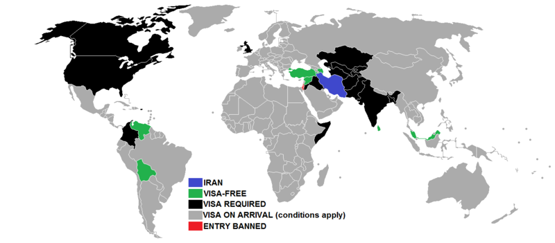 Iran visa free countries